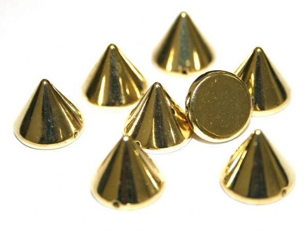 85pcs x 12mm*11mm stud - spike bead with 1 hole --  Finish: gold